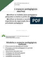 POWERPOINT MODELOS E ESPAÇOS PEDAGÓGICOS - TAE 10