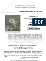 Conferenza Avidità secondo incontro LA FAME D'AMORE