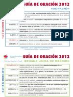 Guía Oración Enero 2012