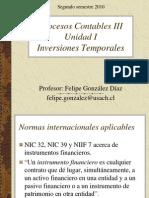 Unidad I - Inversiones Temp or Ales