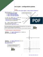 repères du plan - configurations planes (2nde)