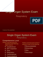 Documentation of the Respiratory Single Organ System Exam