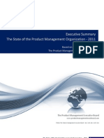 Executive Summary - The State of the Product Management Organization 2011