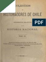 Colección de historiadores de Chile y documentos relativos a la historia nacional. T.IX. Descripción histórico-jeogr. Reino de Chile. T.II. 1875