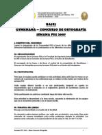Semana FIIS 2007 - Bases Ortografia