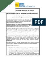 PRIMERAS MEDIDAS DEL GOBIERNO RAJOY