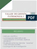 Taller  de Gestión Patrimonial I. Sección Investigación 7 septiembre