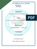 ESTRUCTURA ORGANIZATIVA DE LA SECRETARÍA DE ESTADO DE EDUCACIÓN Y CULTURA