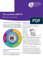 CURICULUM 2009 10 What You Need to Know