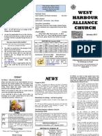 Church Newsletter-january 2012 (Summer Holiday)