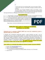 Instrucoes Para Enviar Remessas de 2008 Do SIASUS