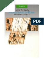 Alföldy, Géza - Historia social de Roma