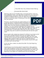 Guerrilla Tactics That Will Give You a Good Credit Rating