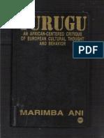 76901220 Yurugu an African Centered Critique of European Cultural Thought and Behavior Marimba Ani Smaller