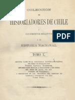 Colección de historiadores de Chile y documentos relativos a la historia nacional. T.X. Descripción histórico-jeográf. del Reino de Chile. T.III. 1876