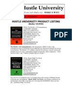 Hustle University Catalog