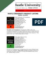 Hustle University Catalog