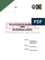 APLICACIÓN DE NORMA ISO 14001