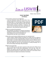 USWIB Newsletter Fall 2011 Issue 2