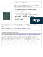 A Critical Race Analysis of Doctoral Education