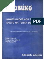ORUNKO Nomes Dados Aos Filhos de Santo (Ademola Adesoji)