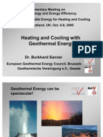 Dr Burkhard Sanner - Heating and Cooling With Geothermal Energy