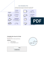 Area Calculation Tool
