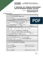 Formula Rio Registro d Empresa a de Residuos Solidos