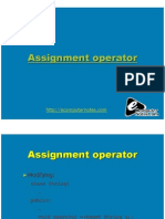 Computer Notes - Assignment Operator