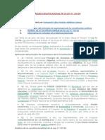 ANÁLISIS CONSTITUCIONAL DE LA LEY Nº 29718