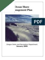 Ocean Shores Managment Plan 2005