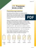 Fracciones-equivalencia y Orden N