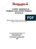 EdCIL Report of Teachers Absence Study Doc by Vijay Kumar Heer