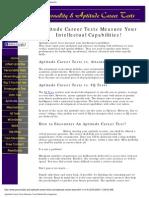 Aptitude Career Tests