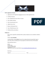 OCPA Application Checklist