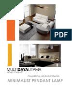 Minimalist Pendant Lamp Series
