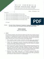 SE No 19 Tahun 2010 Tentang Petunjuk Teknis Pengelolaan Lingkungan Pengadaan Tanah, Relokasi, Penanganan MAR