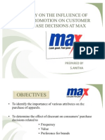 Study on the Effect of Sales Promotion On