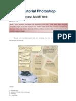 Tutorial Photoshop Layout Mobil Web
