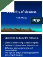 Screening of Diseases
