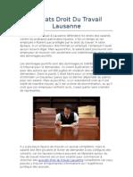 Avocats Droit Du Travail Lausanne