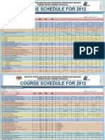 NIOSH 2012 Course Calendar