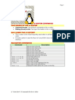 VI Editor Commands