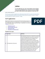 SAP User Classification