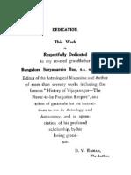 A Manual of Hindu Astrology by BV Raman