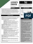 Commander's Field Handbook Tau v[1].1