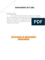Negotiable Instrument Act 1881 Final