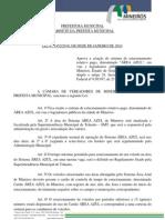 Lei 14-52 de 2010 - Estacionamento Rotativo