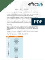 Site Ranking Report – GCC – Nov 2011