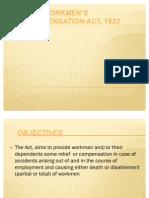 The Workmen's Compensation Act, 1923